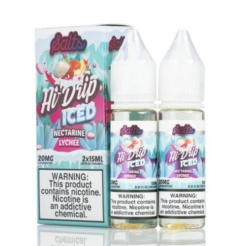 Nectarine Lychee Iced Salt by Hi-Drip Salts 2x15ML 30ML