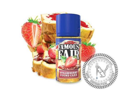 Strawberry Pound Cake By Famous Fair 100ML E-liquid