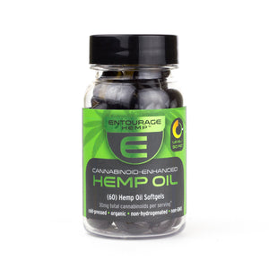 Entourage Hemp Oil Softgels 2 pack/30 pack/60 pack (15mg/ea CBD)