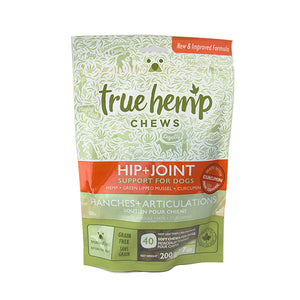 True Hemp Chews: Support for Dogs - Hip & Joint (40 Chews) 7oz