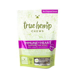 True Hemp Chews: Support for Dogs - Immune & Heart Health (40 Chews) 7oz
