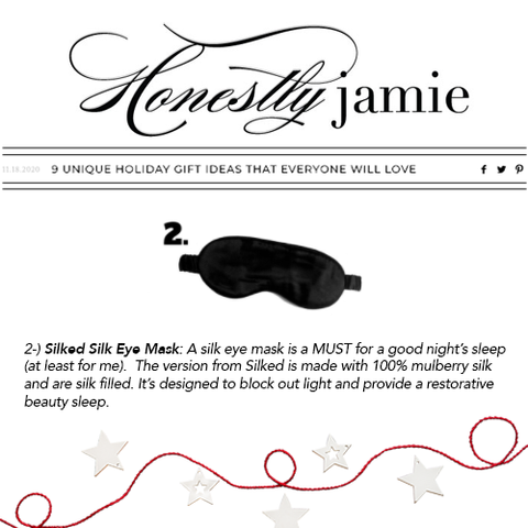 Honestly Jamie 9 UNIQUE HOLIDAY GIFT IDEAS THAT EVERYONE WILL LOVE Featuring Silked Silk Eye Mask USA