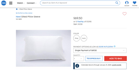The Silked Pillow Sleeve live on HSN Network