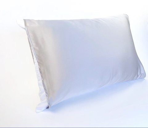 It's a Thing: The Grey Silk Pillow Sleeve Vote #1 Best Seller Made in USA Female Owned Silk Pillowcase
