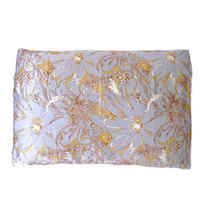 Silked Silk Pillowcase Pillow Sleeve Standard Light Blue Gold Floral