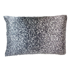 Black & Ivory Cable Knit Silk Pillow Sleeve