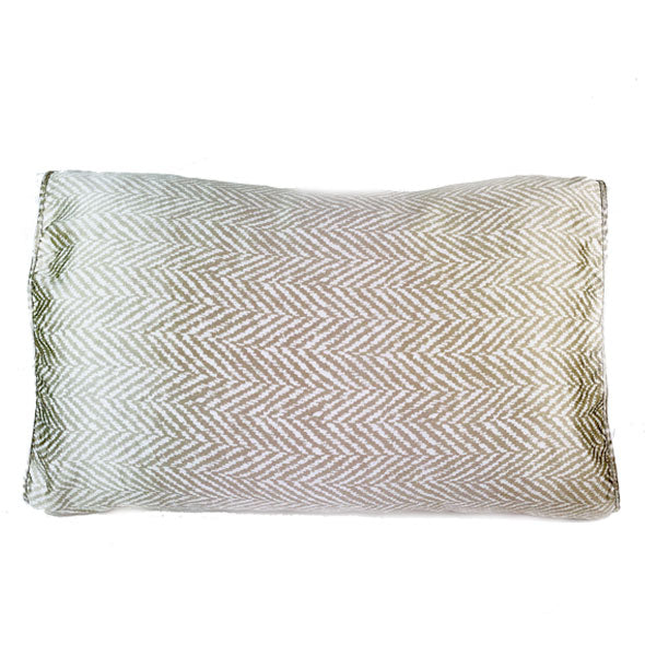 Champagne & White Chevron Silk Pillow Sleeve