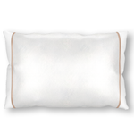 Silked Silk Pillowcase Pillow Sleeve Ivory with Tan Trim for Hair and Skin Made in USA Made By Women #1 Best Sellers