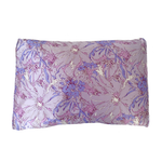 Silked Silk Pillowcase Pillow Sleeve in Lilac Purple Floral for Hair and Skin Eco-sustainable