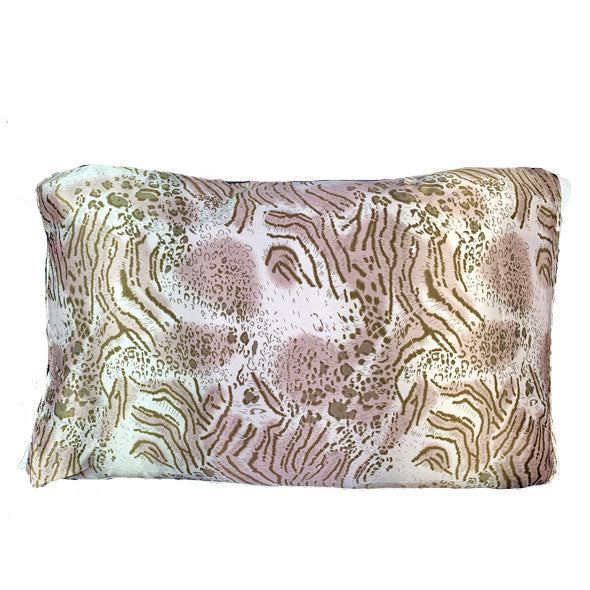 Wild Feline Pink Satin Pillow Sleeve