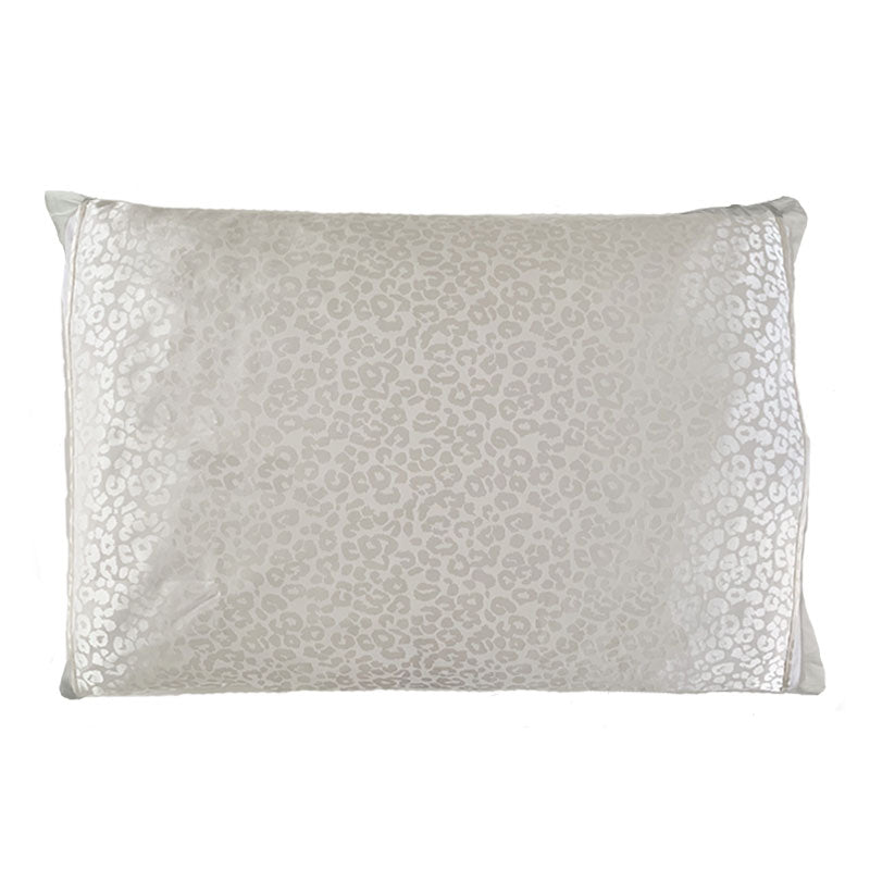 Silked Silk Pillowcase Pillow Sleeve White Leopard 100% Silk #1 Best Seller Made in USA Hotel Travel Beauty Product Antibacterial Hypoallergenic