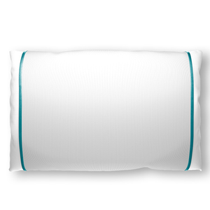 Silked Silk Pillowcase Pillow Sleeve Ivory with Teal Trim for Hair and Skin Made in USA Made By Women #1 Best Sellers
