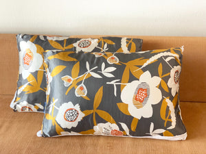 Grey & Mustard Floral Satin Pillow Sleeve  50% OFF! CODE:SATINPRINTSALE