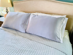 ***NEW Grey Silk Pillow Sleeve (Pair)  25% OFF at checkout!