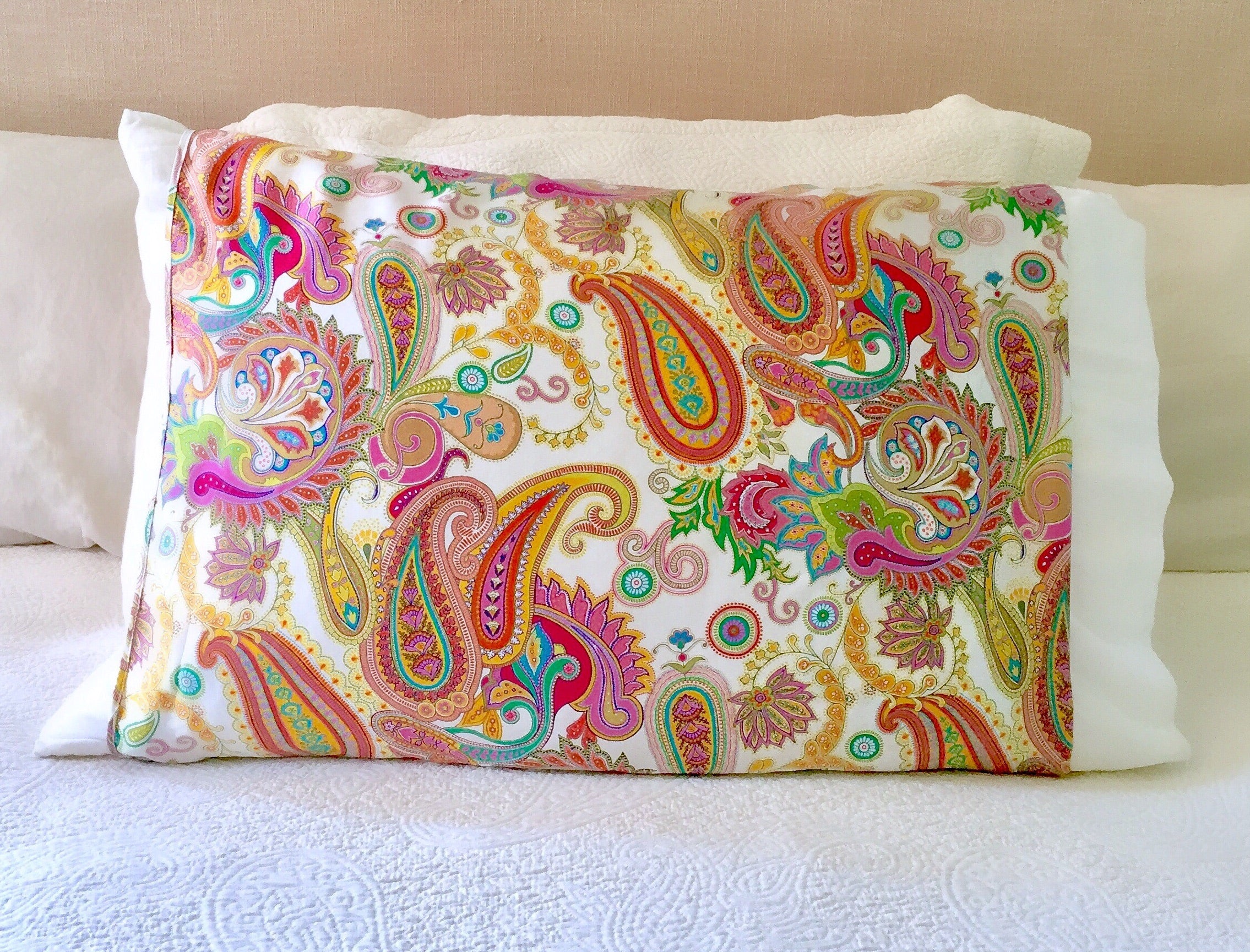 Boho Paisley Silk Pillow Sleeve