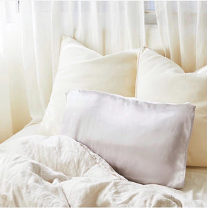 Silked Satin Pillowcase Pillow Sleeve Grey for skin and hair in partnership with Fab Fit Fun Summer Box 2020