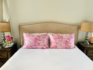 Pricilla Pink Silk Pillow Sleeve BUY ONE GET ONE 50% OFF! CODE: PRINTPAIR (must order 2 for this deal)