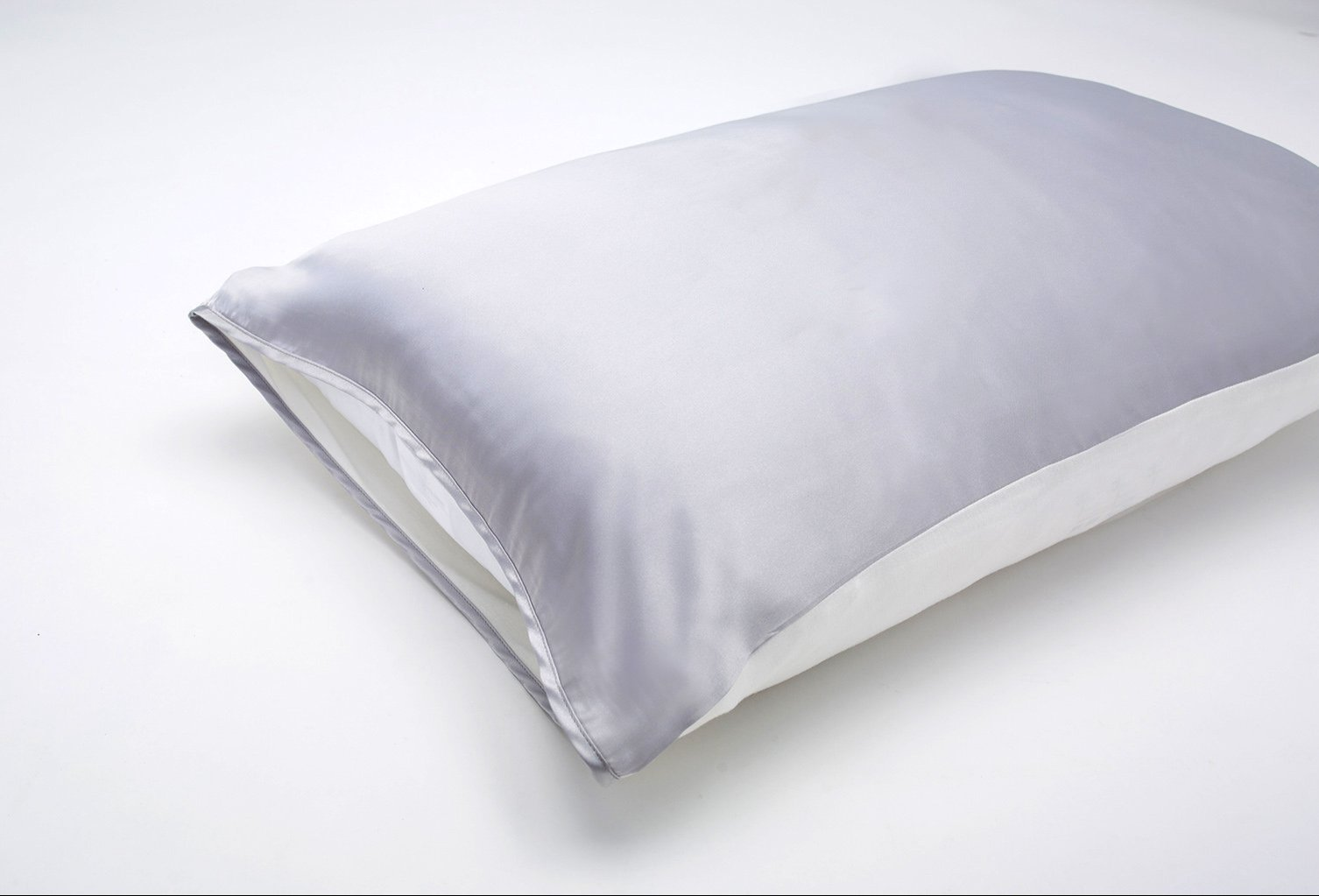 Grey Satin Pillow Sleeve