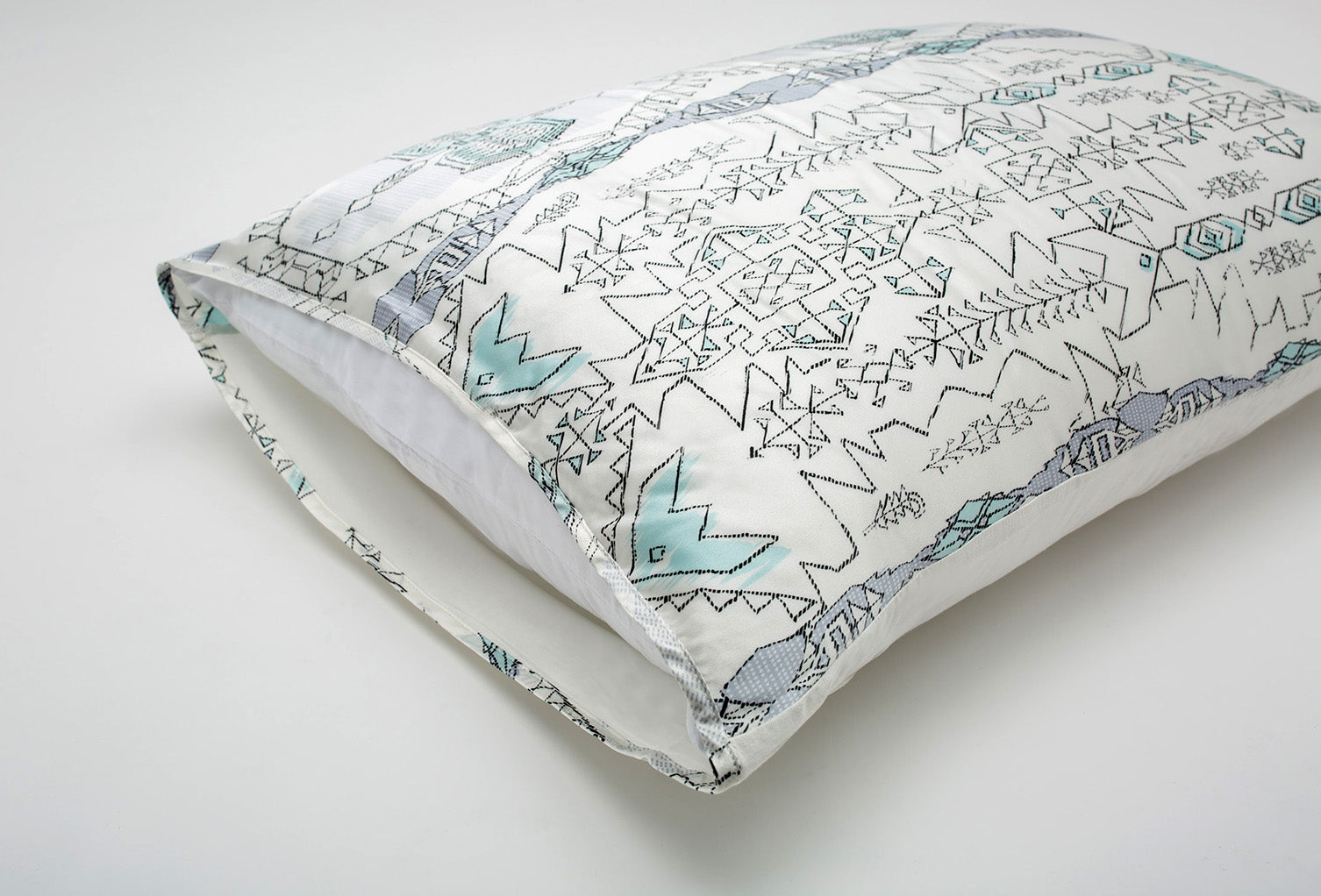 Boho Blue Silk Pillow Sleeve