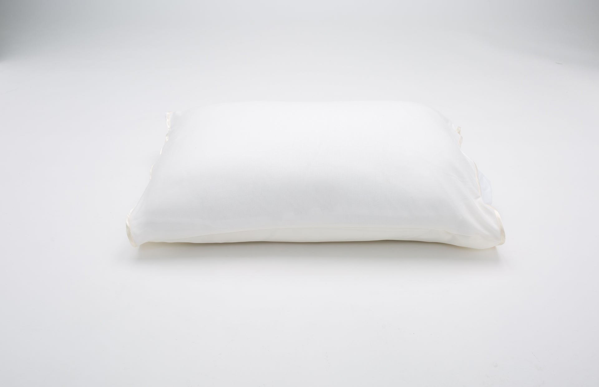 Satin Ivory Pillow Sleeve