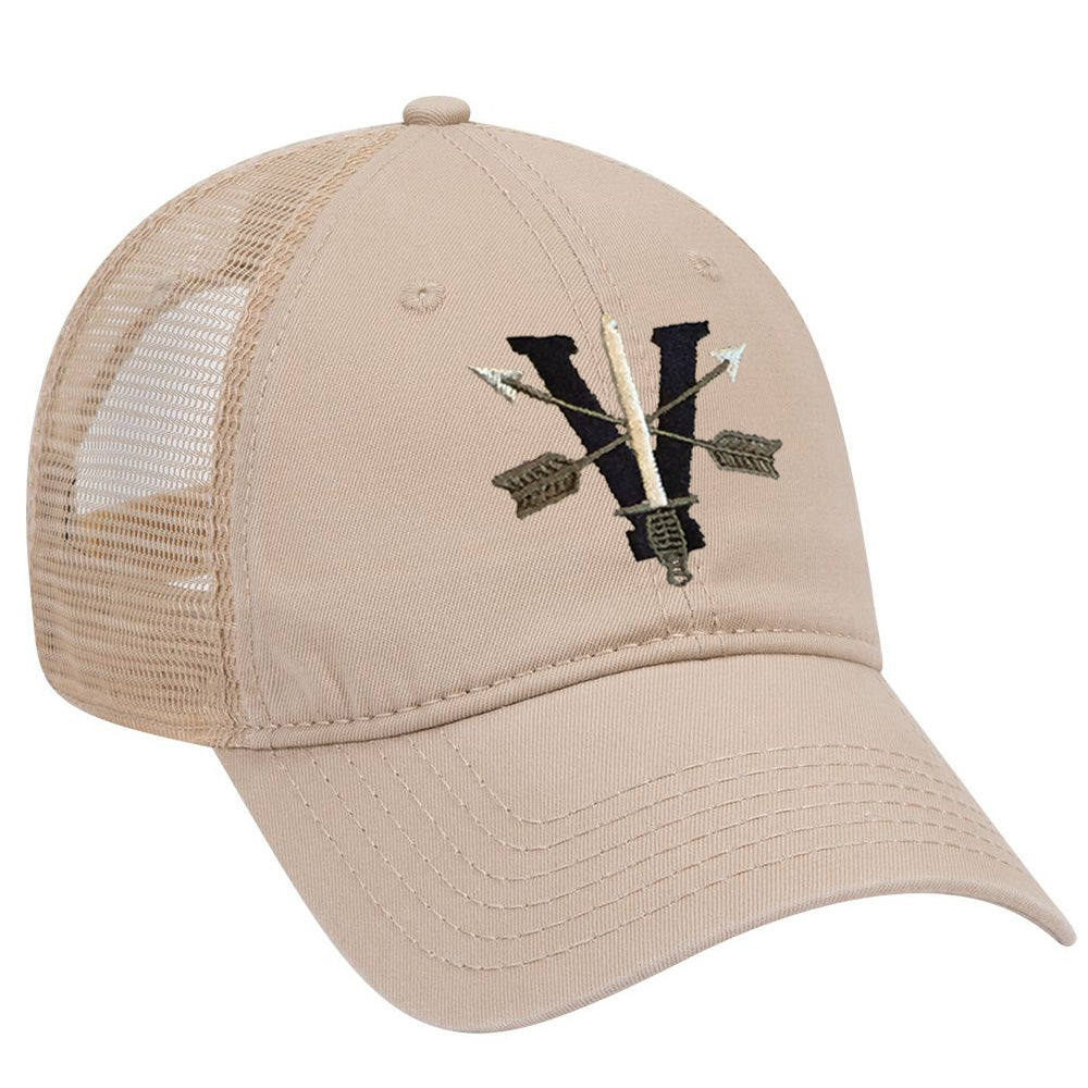 5th Special Forces Group V Subdued Ball Cap - MESH