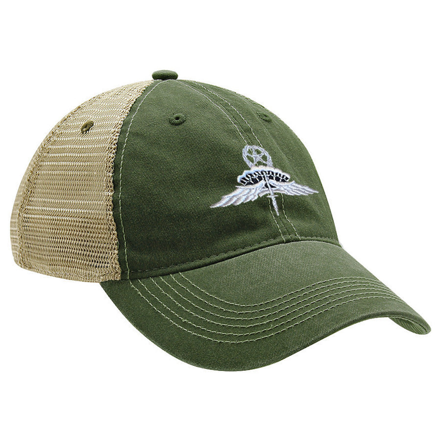 Military Freefall (HALO) Jumpmater Gray Ball Cap - MESH