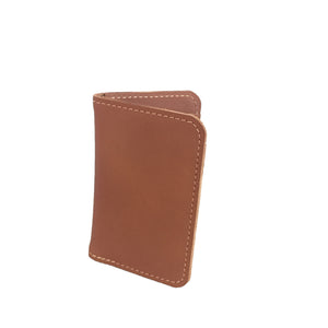 "V6 Vertical Wallet ""Cognac"""