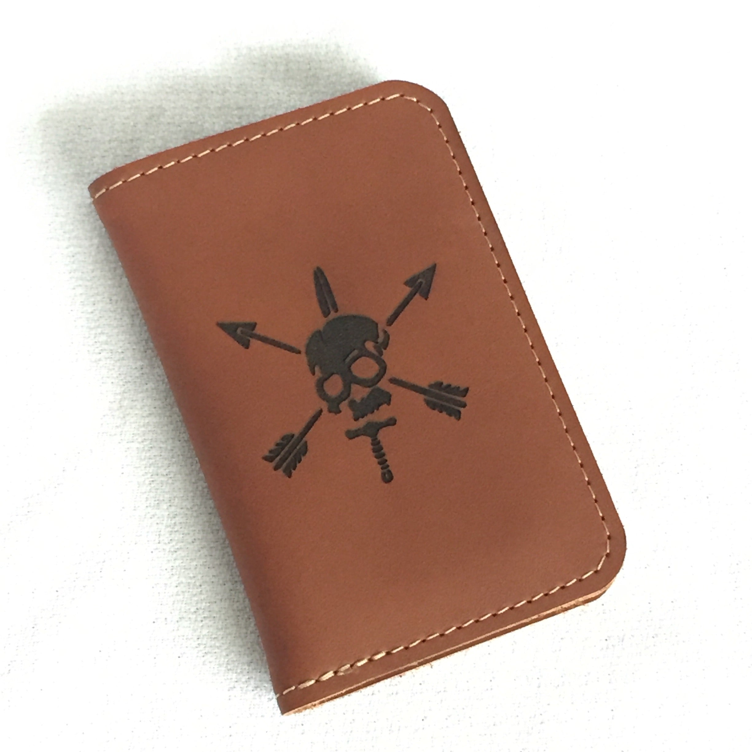 "V6 Vertical Wallet ""Rustic"""