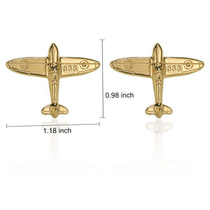 Shinning Golden Solid Men's Necktie Pocket Square Cufflinks Set with Golden Small Plane Collar Pin