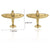 Ties2you New Golden Small Plane Collar Pin