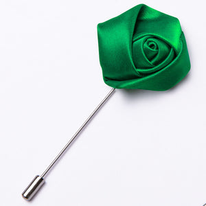 Ties2you Rose Red Silk Rose Floral Lapel Pin