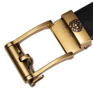 Golden Lion Metal Buckle Genuine Leather Belt 43 inch to 63 inch