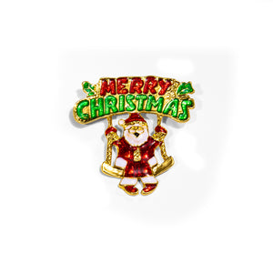 Ties2you Luxury Santa Claus Metal Lapel Pin for Men