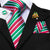 Light Green Red Striped Christmas Style Men's Tie Handkerchief Cufflinks Set with Lapel Pin