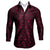 Ties2you Fashionable Black Burgundy Red Paisley Silk Men's Shirt
