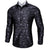 Ties2you Classic Black White Paisley Silk Men's Shirt