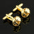 Ties2you Golden Circle Wool Ball-shaped Metal Cufflinks