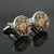 Ties2you Luxury Silver Metal Floral Cufflinks