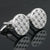 Ties2you Luxury Silver Metal Circle Diamond Cufflinks