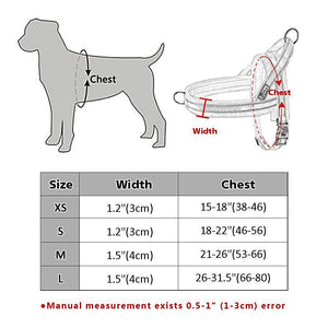 No Pull Nylon Dog Harness Soft Padded Reflective Pet Harnesses Vest For Walking Small Medium-Large Dogs Adjustable XS S M L