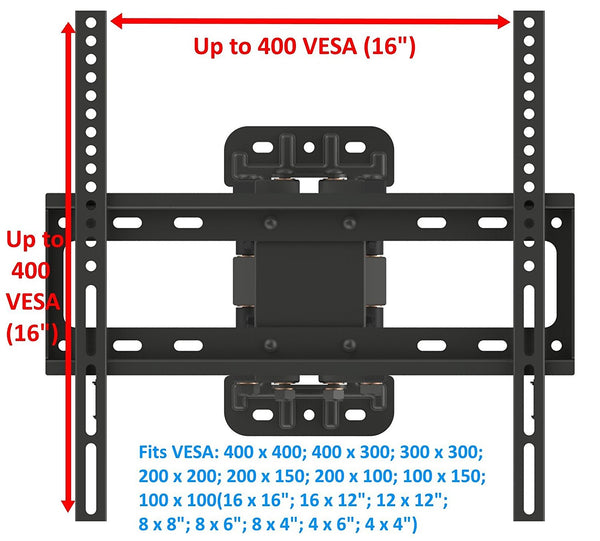 Full Motion TV Bracket Fits TVs 32
