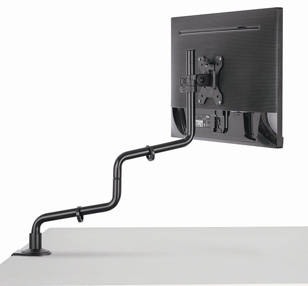Full Motion Computer Monitor Desk Mount - Viewing Angle and Height Adjust