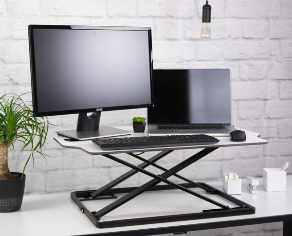 Ergonomic Desktop Standing Desk Converter - Height Adjustable Sit to Stand Pre Assembled