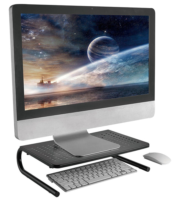 Computer Monitor and Laptop Desk Stand Riser - Organize Work space with Ergonomic Riser