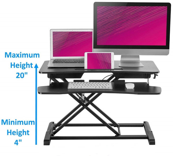 Husky Mount Adjustable Sit to Stand Desk 34
