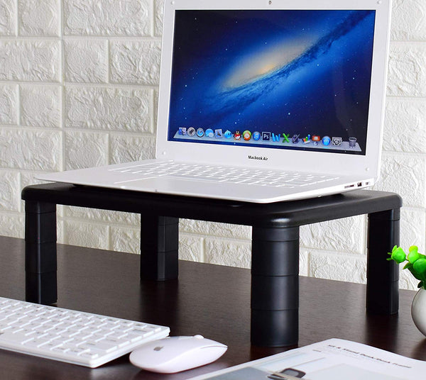 Adjustable Monitor Stand - Sturdy, Durable and Vibration Free Perfect for Monitors and Laptops