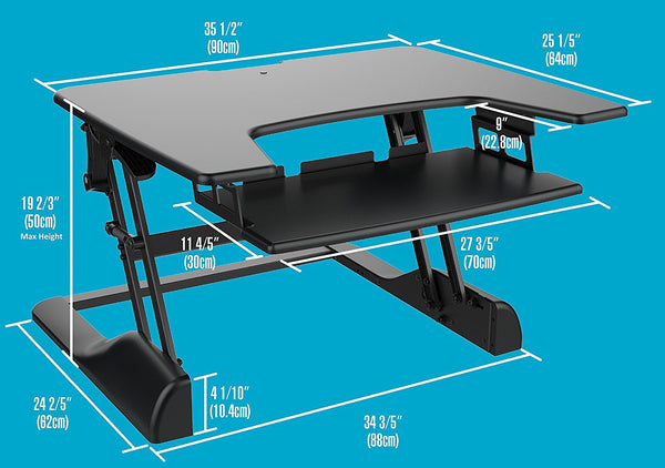 3 Heavy Duty Sit Stand Computer Desks – Adjustable Height No Assembly Required- (3 Desks, 2 New and 1 used)