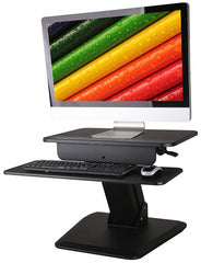 Height Adjustable Standing Desk Spring Assisted Double Level Desktop