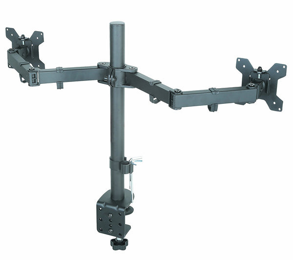 Desk Clamp Double Arm Monitor Mount for PC and Apple Monitors Full Motion for VESA 100x100