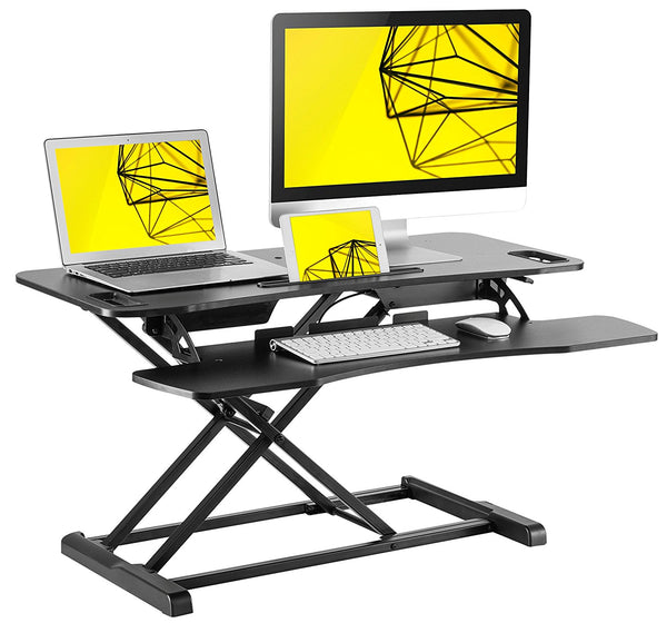Standing Desk by Husky Mount Height Adjustable and Space Saving Desk Converter